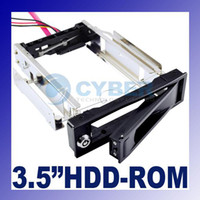 Wholesale 3 SATA HDD Rom Hard Drive Disk Aulminum Mobile Rack excellent ventilation Anti Vibration Key Lock