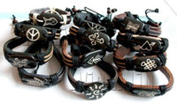 leather bracelet - Brand New Fashion Jewelry Jewellery Mix strands MEN S OX boneTribal Bracelets Bangle Chain B401