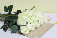 Wholesale up to off Mixed color Decorative plastic White rose Artificial Decorative flowers Dried flowers