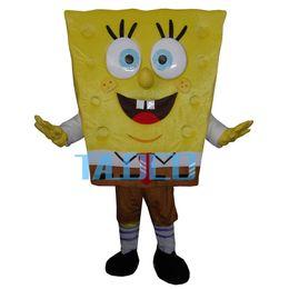 Wholesale Hot Sponge bob Mascot Costume Fancy Dress Adult Size