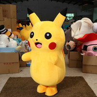 Wholesale Professional Adult Size Pikachu Mascot Costume carnival anime movie character Classic cartoon Adult Character Fancy Dress Cartoon Suit DS1