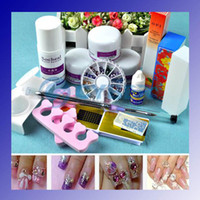 Wholesale Nail Kit DIY Acrylic Nail Kit with Powder Liquid glue forms brush Full tools Professional