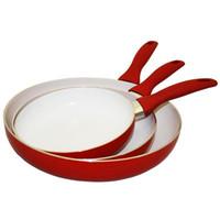 Griddles & Grill Pans aluminum fry pan non stick - Concord Piece ECO Friendly Ceramic Non Stick Fry Pan Set