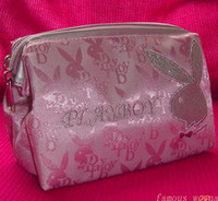 Wholesale B836 Brand New PLAYBOY Girls Ladies Cosmetic Make up Bag Case Purse Nylon useful make up bag