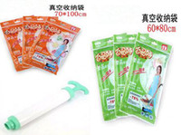 Wholesale 9pcs Set Vacuum compressed storage bag CM and CM and Manual suction pump pc