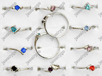 Wholesale Fashion Rings Jewellery Classic CZ Silver P Women Rings Wedding Bridal Ring F18 F19