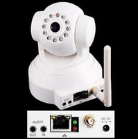 Wholesale 1PCS FOSCAM Wireless IP Camera IR LED Night Vision Wifi Cam Pan Tilt Dual Webcam FI8918W