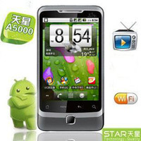 Wholesale Android smart phones A5000 GB unlocked phone Cellphone Mobile Phone TV GPS WIFI