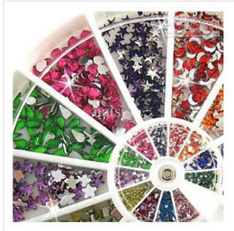 Wholesale Different Styles and Shapes Mix Rhinestones Glitter Gems Tips Nail Art
