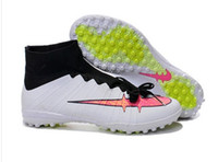 Wholesale New Elastico Superfly IC Indoor Soccer Shoes High Ankle Superfly TF Turf Football Boots Futsal Soccer