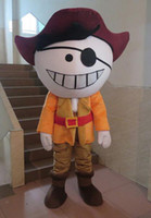 Wholesale High Quality Details About Big Head Pirate With Sinister Smile Adult Size Cartoon Mascot Costume Halloween Christmas Party Cartoon Costume