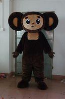 Wholesale High Quality Big Ears Monkey Big Eye Happy Face Cartoon Mascot Costume Halloween Christmas Party Fancy Dress
