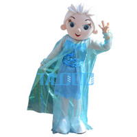 Wholesale Elsa Princess Mascot Costume Adult Size Fancy Dress Party for festival Free Ship