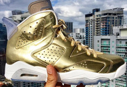 Wholesale Retro Gold Spike Lee Oscar Air VI New Arrive Men Women Basketball Shoes Hot Best Quality High Fashion Sneakers