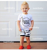 bad girl shirts - NWT New cute Baby Girls Boys Outfits Set Summer Sets Boy Cotton Tops Shirts VEST shorts Harem Pants piece sets Daddy s Bad Dude