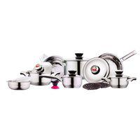 ECO Friendly stainless steel cookware - Kelvin K PC ply Crystal Stainless Steel Cookware
