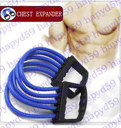 brand new 1pcs pure latex CHEST EXPANDER MACHINE EXERCISE TONING BANDS! Removable