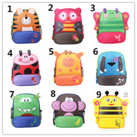 Backpacks animal print tape - Cartoon Animals Backpacks styles schoolbag kindergarten Bookbag Students Schoolbag Kids Satchel Bags Double Shoulder Tapes Canvas Bag EMS