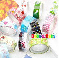 Wholesale Cute cartoon color tape stick tape Lovely picture practical tapes Low price