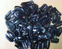 Wholesale 200Pcs cm Black Brown Beige Silver Carbon Steel Clips For Hair Extensions Wig Clip Toupees Clips