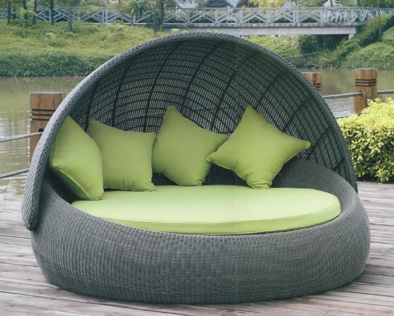 2017 Outdoor Round Bed Sofa Of Garden Furniture With