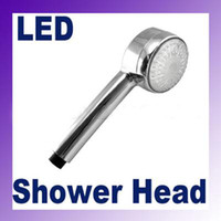 Wholesale 7240 ROMANTIC COLORS LED SHOWER HEAD LIGHTS WATER BATHROOM