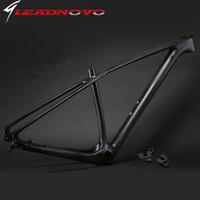 Wholesale 2016 light design Mountain full Carbon bike frameset mtb full carbon bike frame er thru axle compatible