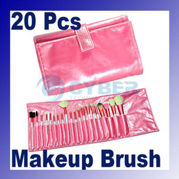 Wholesale 20 Cosmetic Makeup Brusher Pink Soft Brush Set With Bag Case Both Studio And Personal Use