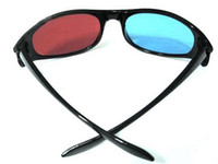 Wholesale Red amp Blue Cyan Anaglyph D GLASSES For movie game Hot Sale
