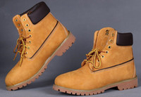 Wholesale Hot Genuine Leather brand Boots Outdoor Warm Snow Boots mens casual Martin high shoes Original Quality