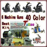 Wholesale Complete Tattoo Kit New Machine Gun Power Needle Ink Beginner Tattoo Supply