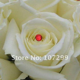 FREE SHIPPING-80pc 4mm Red Rhinestone Wedding favor Accessories Wedding Bouquets Bridal Stem Jewelry
