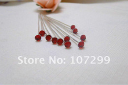 FREE SHIPPING-80pcs RED Rhinestone Wedding favor Accessories Wedding Bouquets Bridal Stem Jewelry