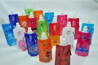 Wholesale 480pcs guaranteed Newest Folding Bottle Foldable Bottle water bottle ml MORE THAN COLORS