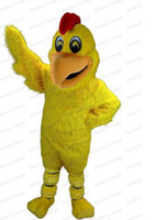 Wholesale Hot selling high quality Brand New Yellow chicken Plush Adult Mascot Costume Halloween Christmas party adult size
