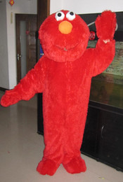Wholesale red Elmo Halloween Cartoon Character Costume mascot Custom Products custom made s m l xl xxl