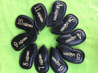 Wholesale hot sale PCSset Honma Golf headcover PU putter clubs headcoverf Golf Club Head Iron Headcovers PU Protective Headcovers