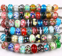 Wholesale 10000pcs New lampwork glass beads fit biagi charms italian bracelets