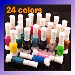 Wholesale 24 colors Way Glitter Makeup Polish Nail Art Striper Pen Varnish Brush Set