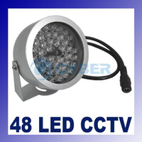 Wholesale 48 LED illuminator light CCTV IR Infrared Night Vision All weather Aluminum And Reinforced Glass