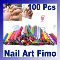 Wholesale Nail Art Stickers Nail Art Canes Stickers Rod Fimo Decoration Fruit And Flower Cutted