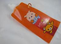 Wholesale 200pcs Drop shiping cartoon design foldable water bottle folding water bottle