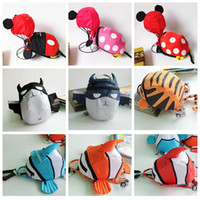 backpack sets - set Child Anti lost Backpacks bag cute cartoon devil baby children a small bag boy girl shoulder bag hat