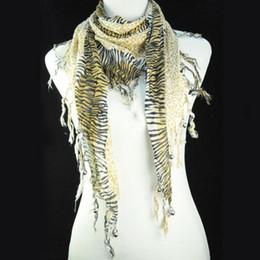 Wholesale Hot sale USA Leopard Shawl Jewelry muffer leopard knitting pattern scarf jewellery necklace scarves for women NL A