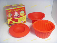 Wholesale Cupcake Mould Big Top Cupcake Silicone Cupcake Mold big top clipcake