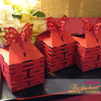 Other Red  30 Wedding Butterfly Red DIY Chinese Paper Gift Jewelry Candy Box #1218