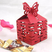 Wholesale Hot Sale European candy box Wedding favors gift box sweet boxes Red