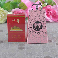 Wholesale Hot Sale Europe candy box Wedding Xmas favors gift box sweet boxes Red