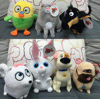best life movies - 7pcs The Secret Life of Pets plush toys CM Cartoon Stuffed Animals toys PP Cotton Best Decoration and Gifts Free Ship