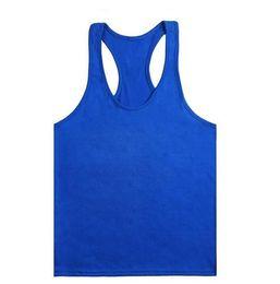 Wholesale Hot sale colors Cotton Stringer Bodybuilding Equipment Fitness Gym Tank Top shirt Solid Singlet Y Back Sport clothes Vest